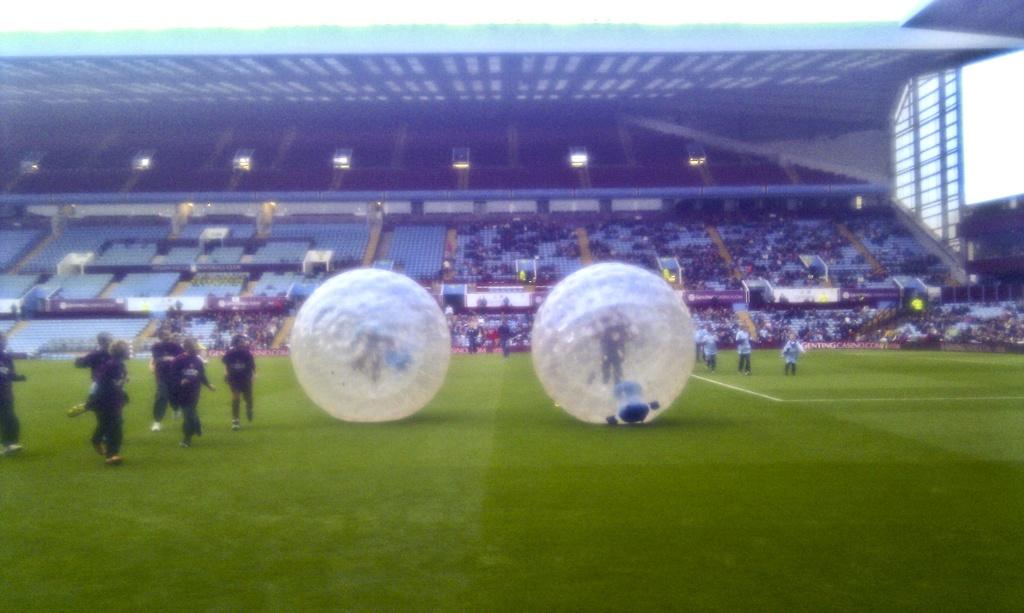 Taylor Zorbing Hire UK - Aston Villa Pitchside Web 2