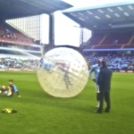 Taylor Zorbing Hire UK - Aston Villa Pitchside Web