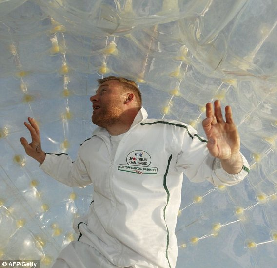 Celebrity Zorbing For Sports Relief