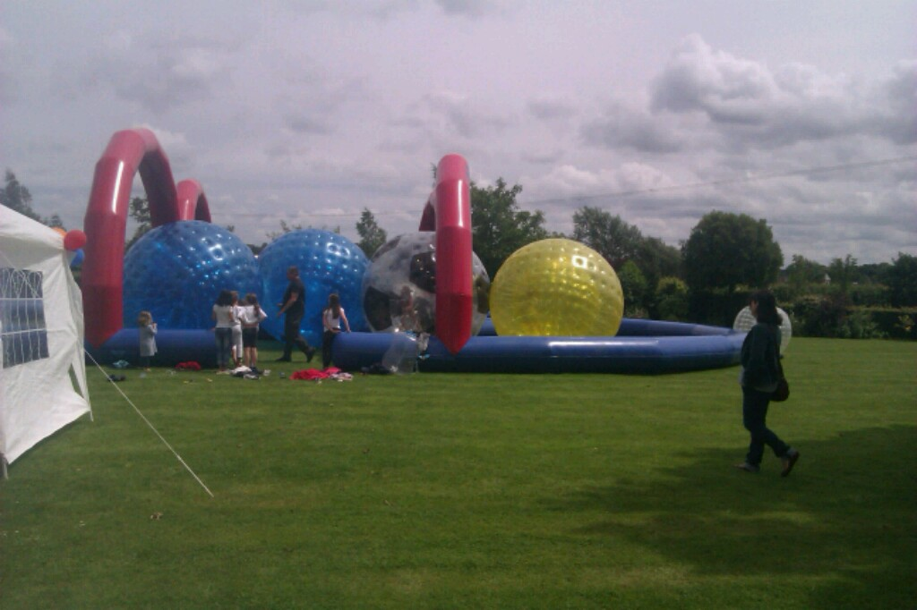Zorb Balls And Zorb Race Track