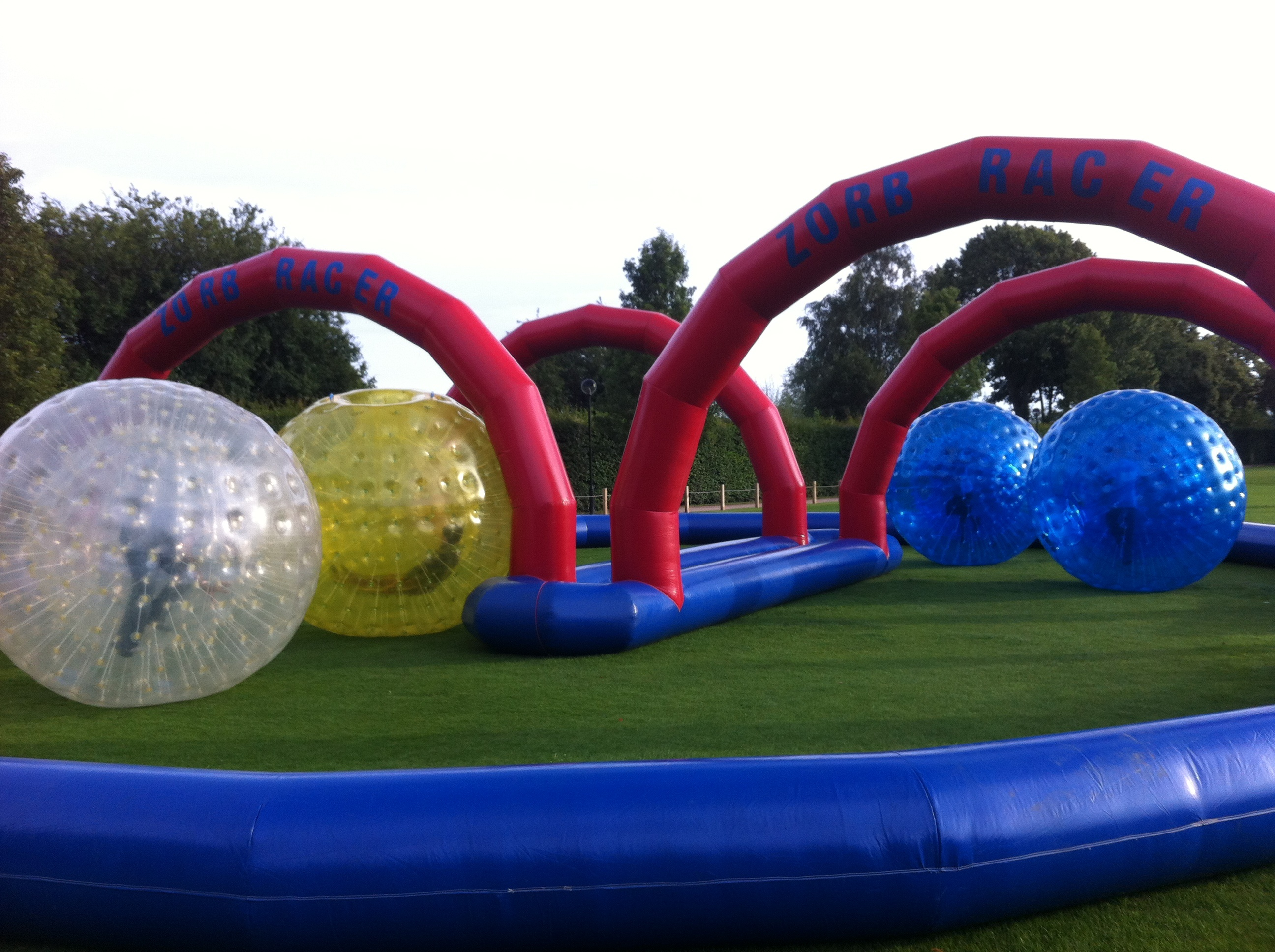 Zorb Race Track And Zorb Balls