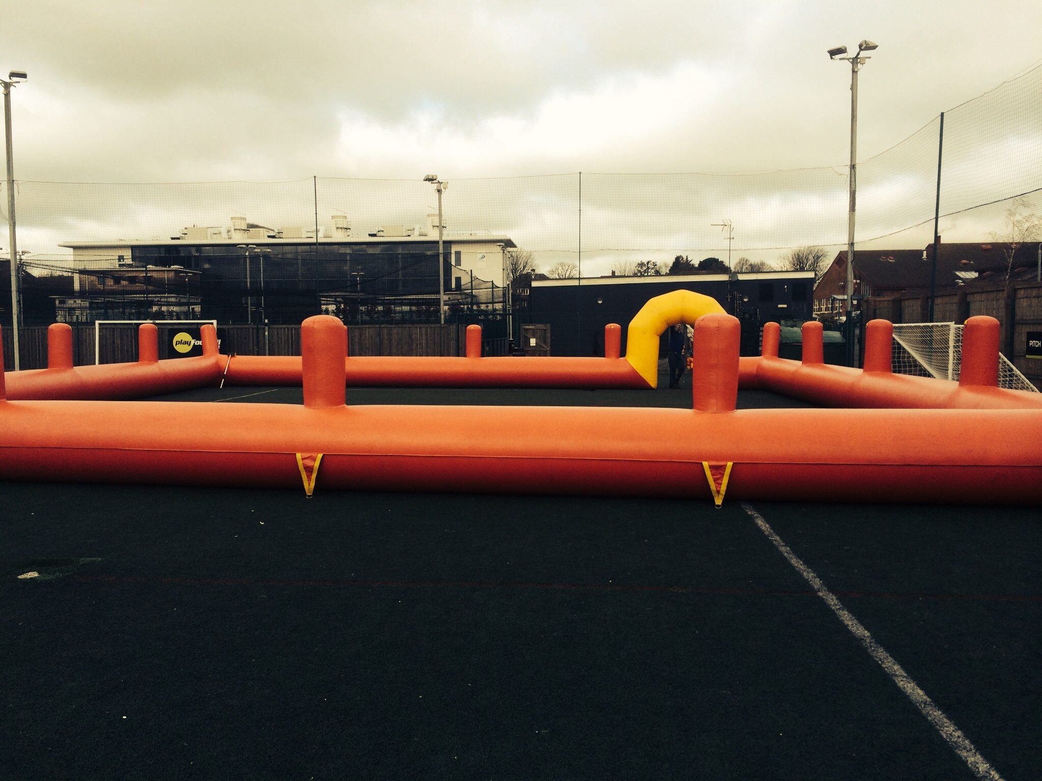 Inflatable Zorb Football Course