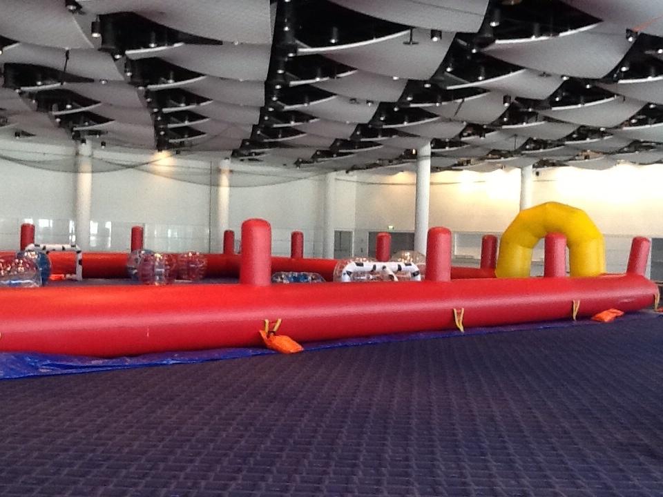 Bubble Football Course Set Up