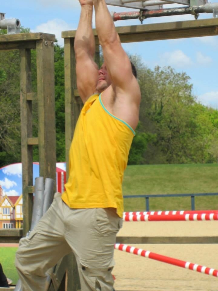 Person Participating In Obstacle Course