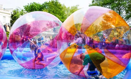childrens zorb parties