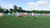 Kids Playing Outdoor Bubble Football