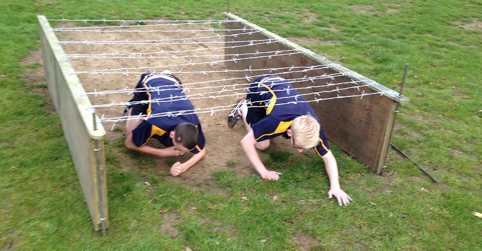 Zorbing-Hire-Assault-Course-Crawling