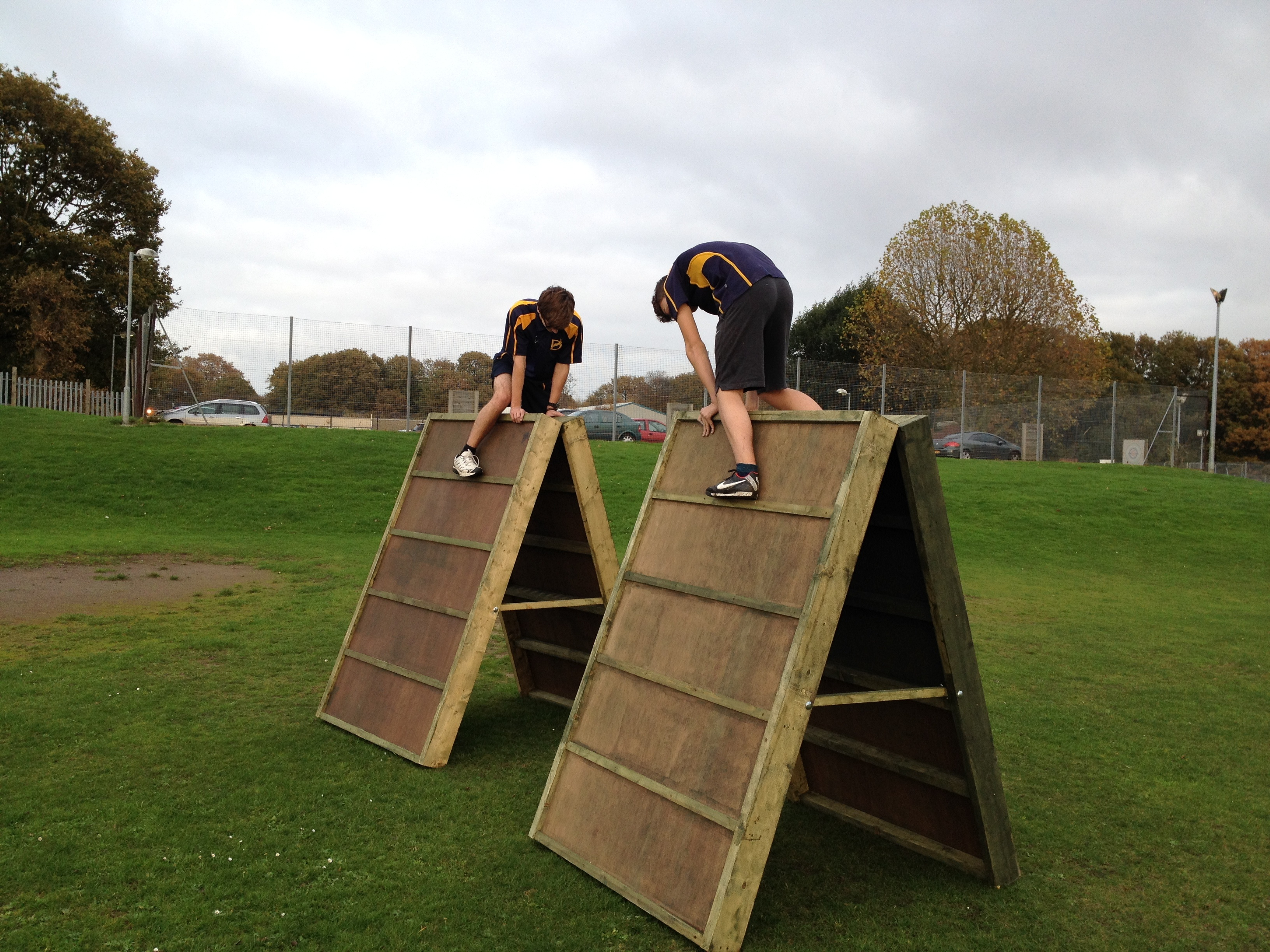 Children On Obstacle Course