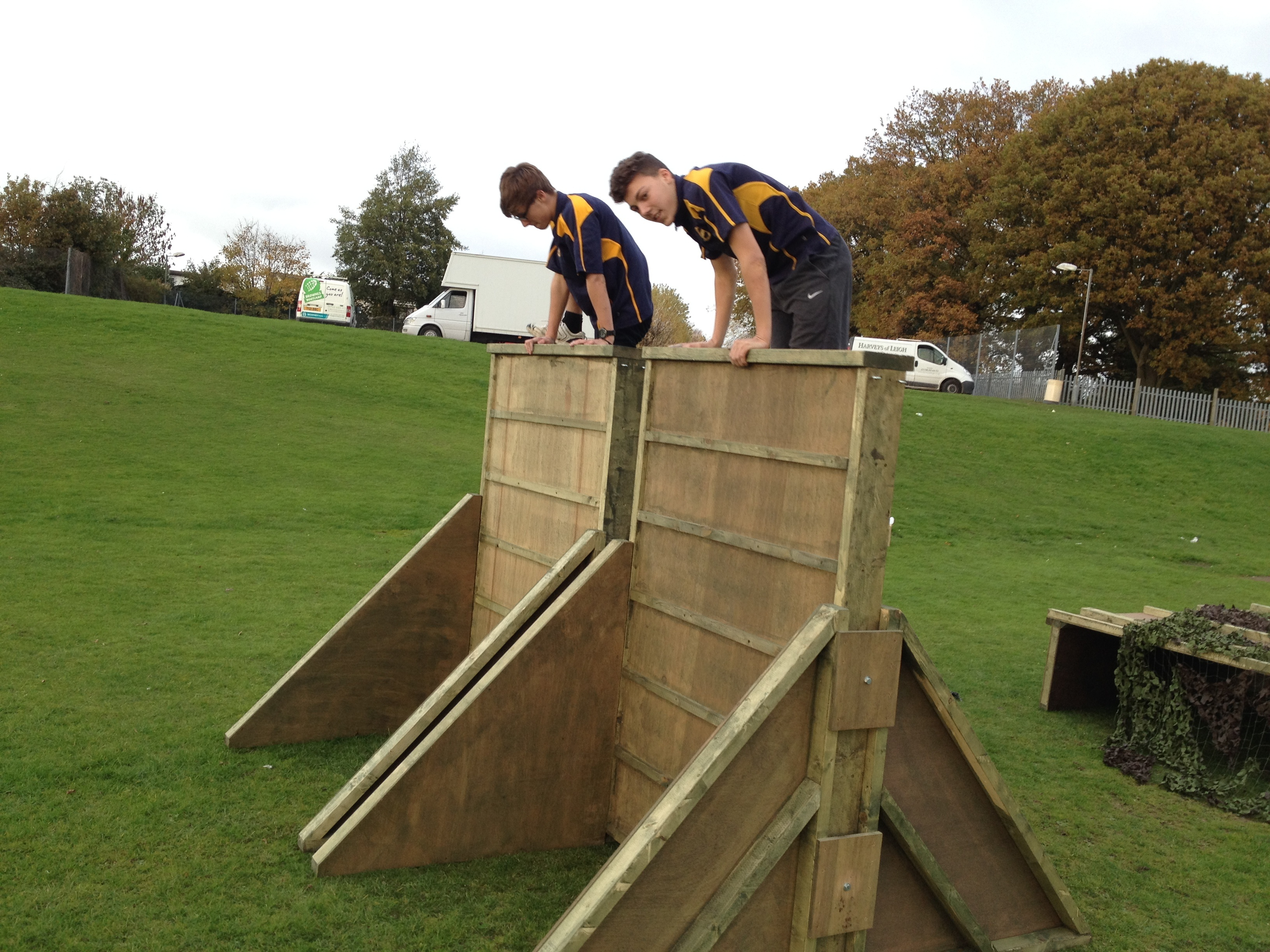 Children Climbing Cover Obstacle Course Wall