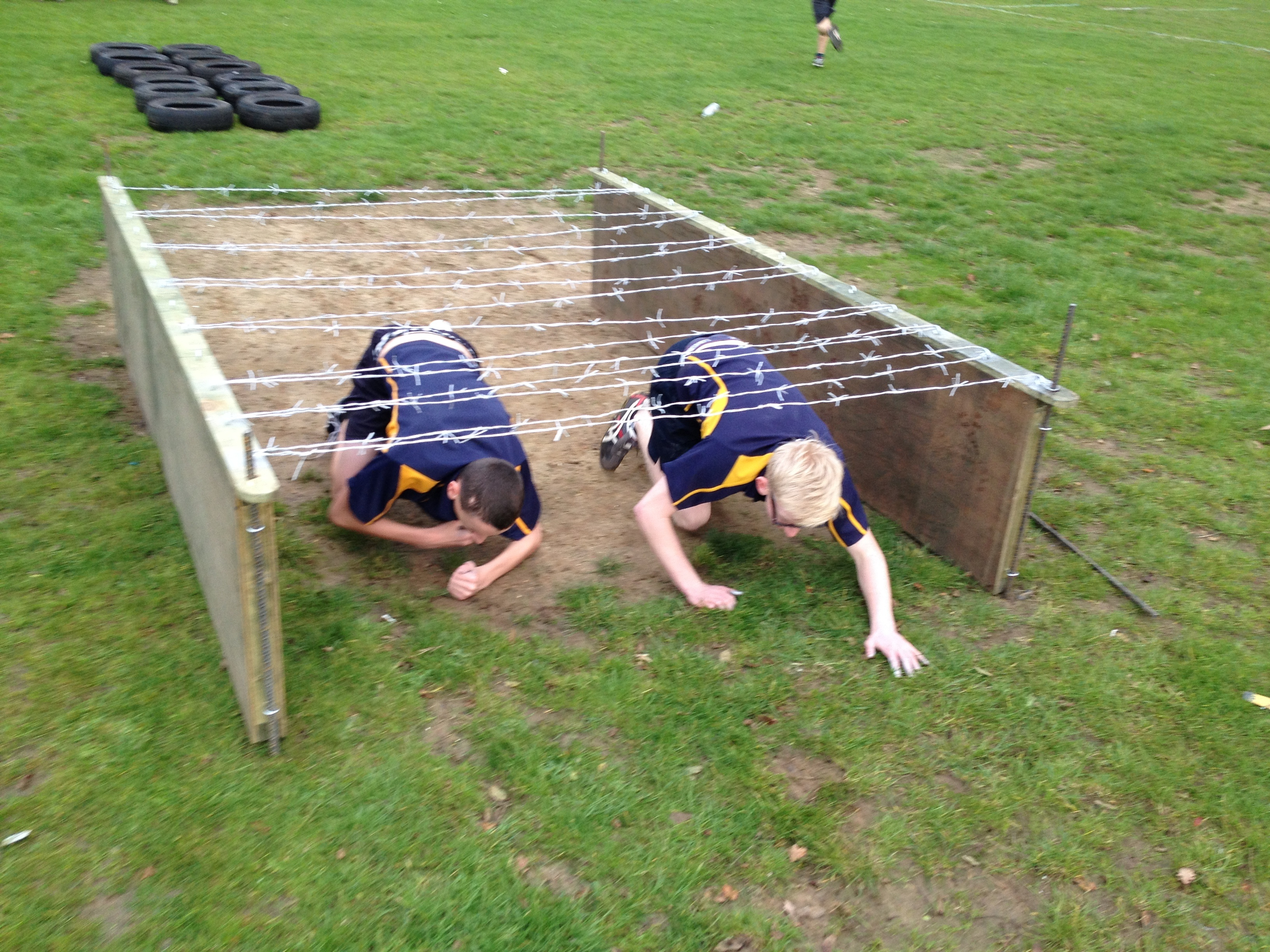 Children In An Obstacle Course