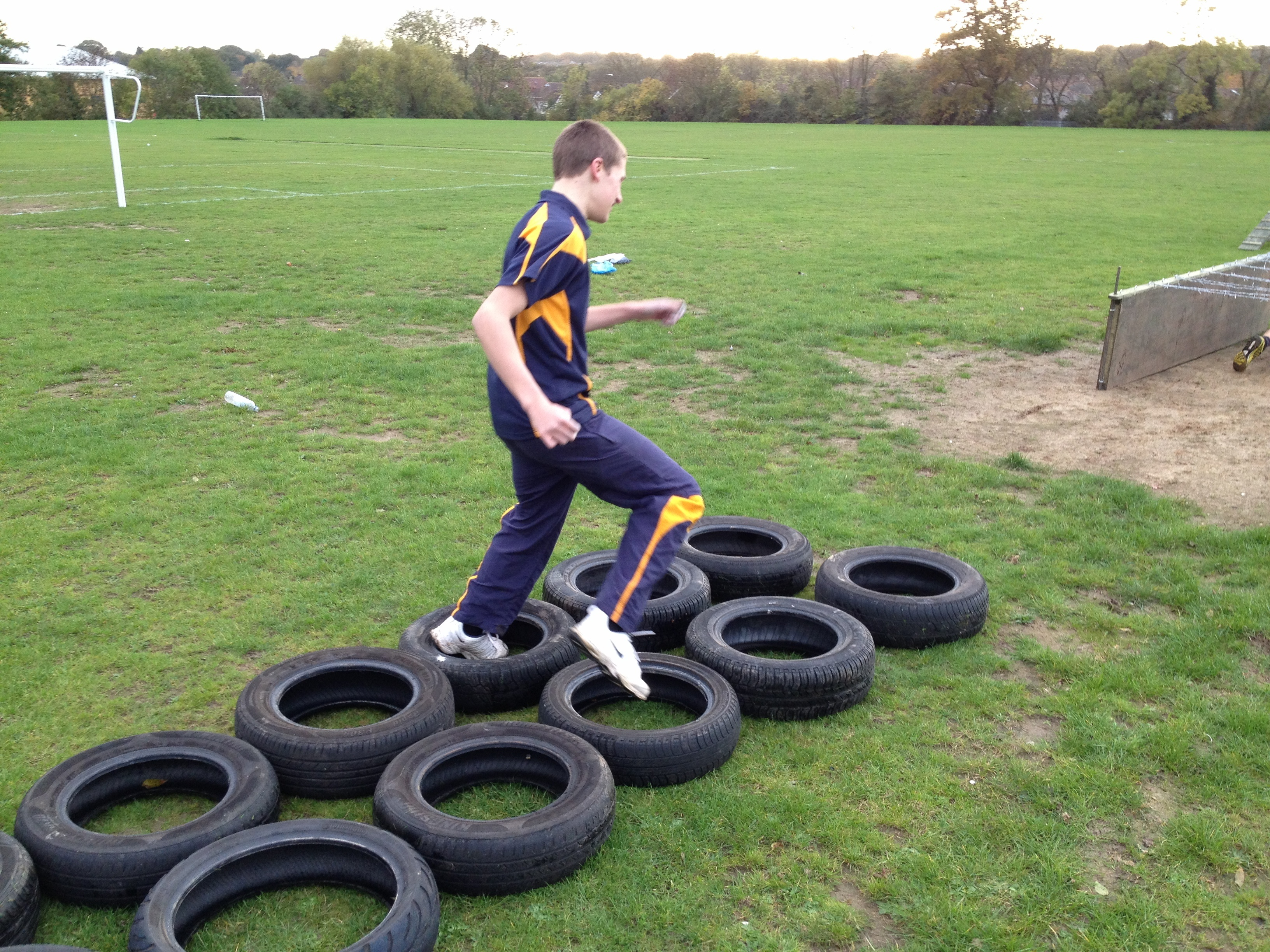 Child Participating In An Assault Course
