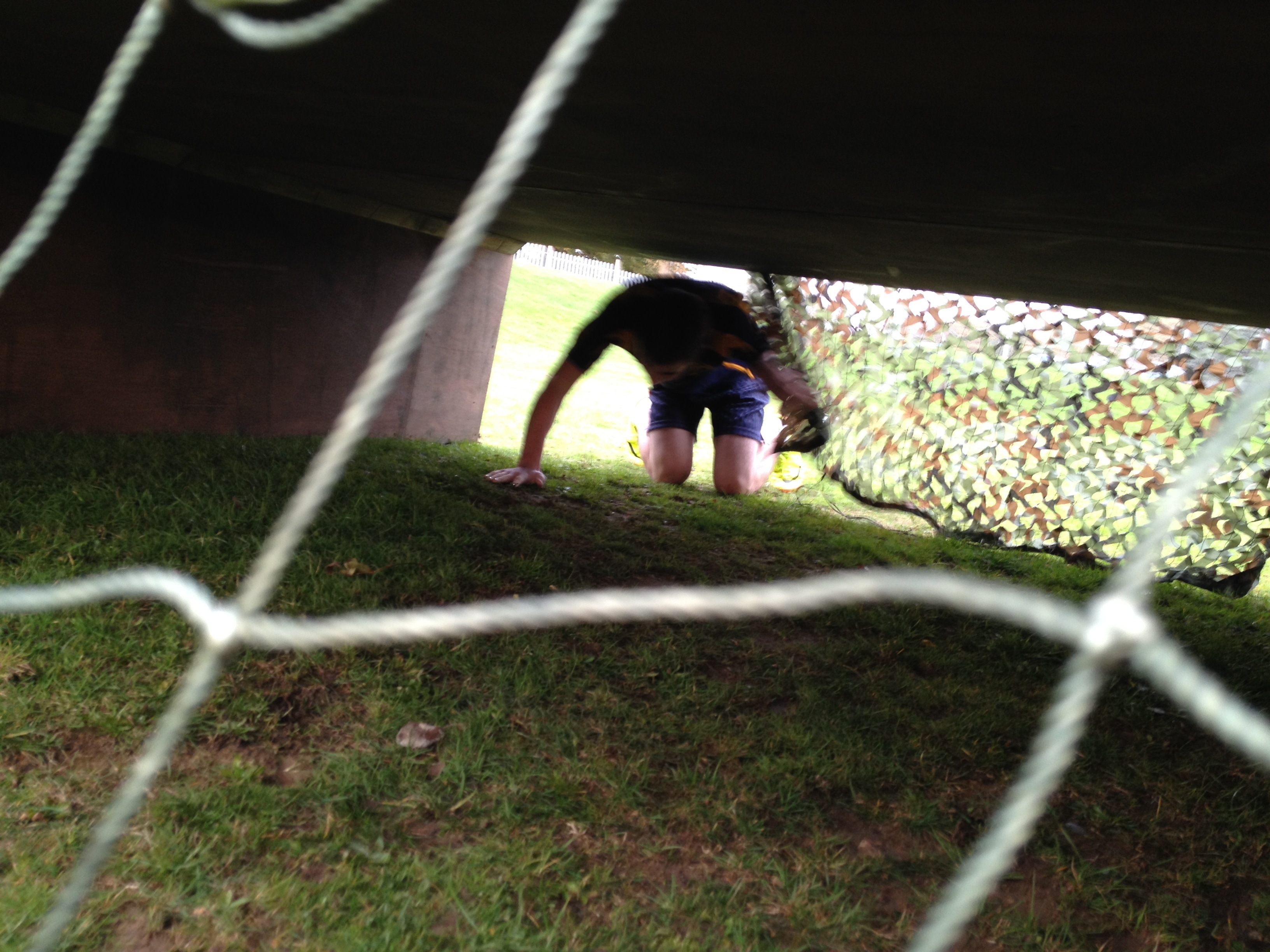 Person Participating In An Assault Course