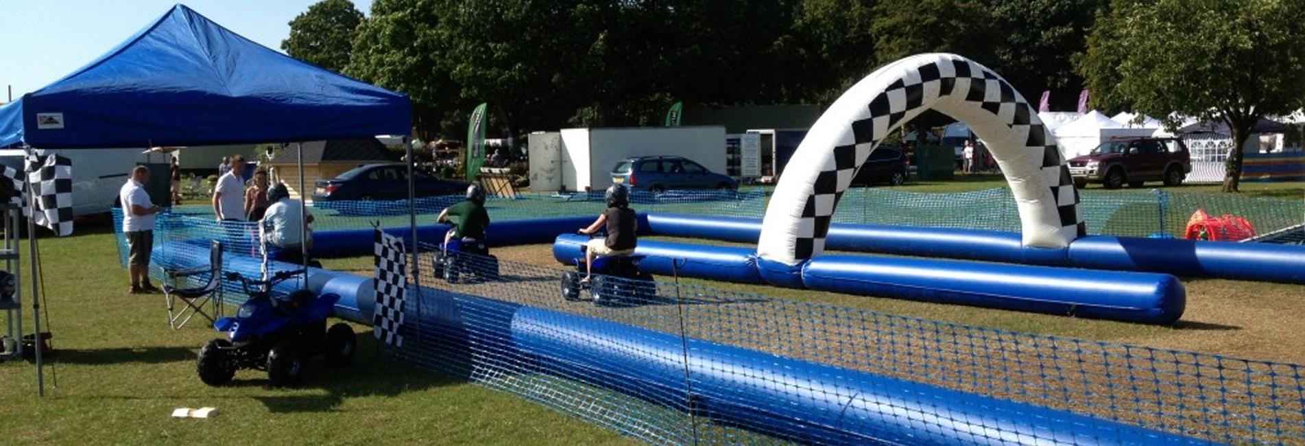 Kids Racing Quad Bikes Outdoors