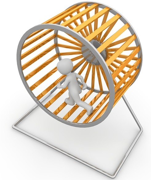Animation Of A Person In A Hamster Wheel