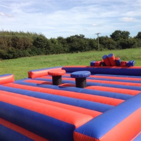 gladiator dual inflatable fun activities