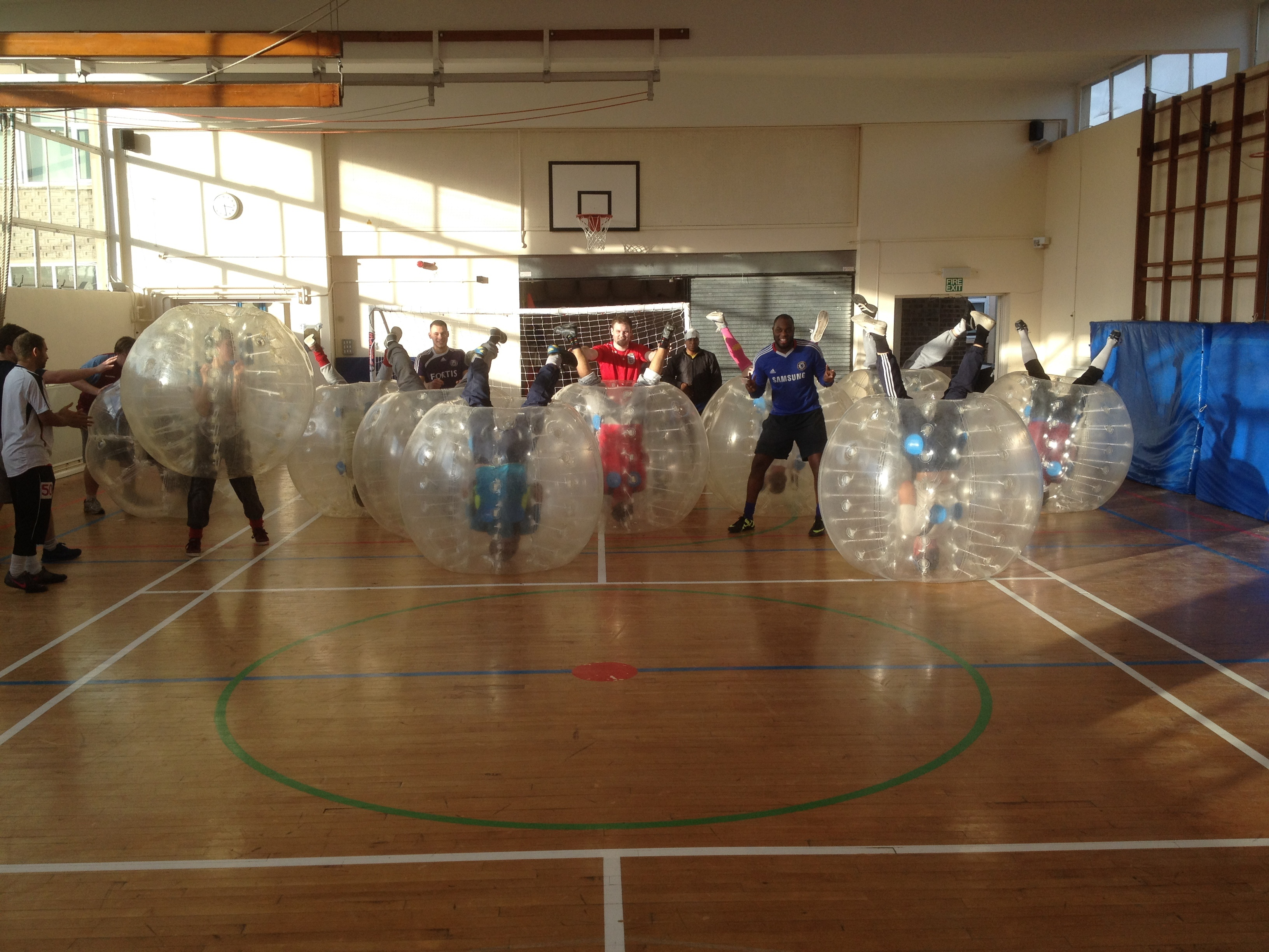 BUBBLE FOOTBALL At Sports Day